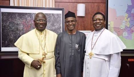 Samuel Chukwuemeka Kanu is the Primate of the Methodist Church of Nigeria with Kaduna State Governor, Nasir El-Rufai