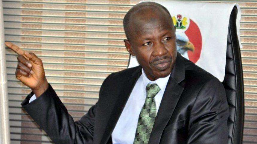 Image result for Magu 'diverting attention from corruption under Buhari'