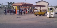 A filling station used to illustrate a story