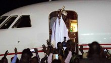 Yahya Jammeh is to go into exile in Equatorial Guinea Credit: AP