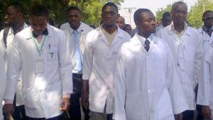Striking doctors in Nigeria used to illustrate the story
