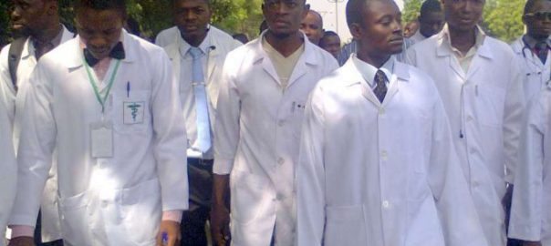 Striking doctors in Nigeria used to illustrate the story [Photo credit: Esabod]