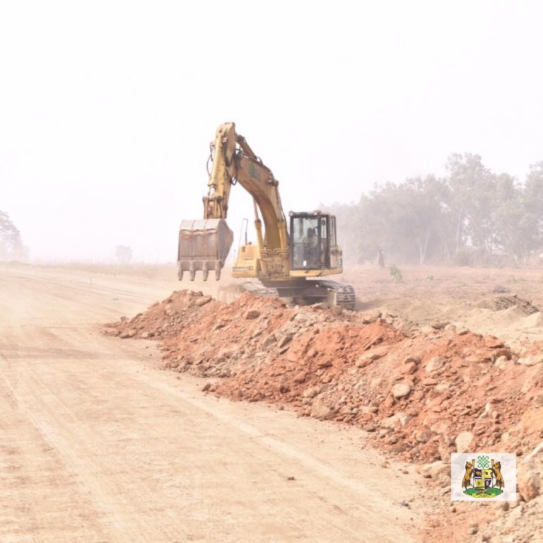 New Kaduna Airport road under construction