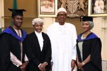 President Muhammadu Buhari and Children