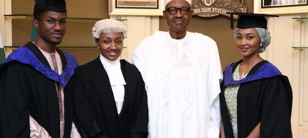 President Muhammadu Buhari and Children