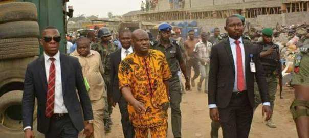 Gov Wike and security operatives