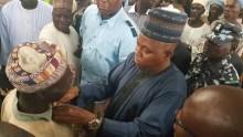 Governor Kashim Shettima visiting an IDP Camp
