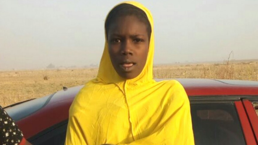 One of the teenage female bombers intercepted by the Nigerian Military