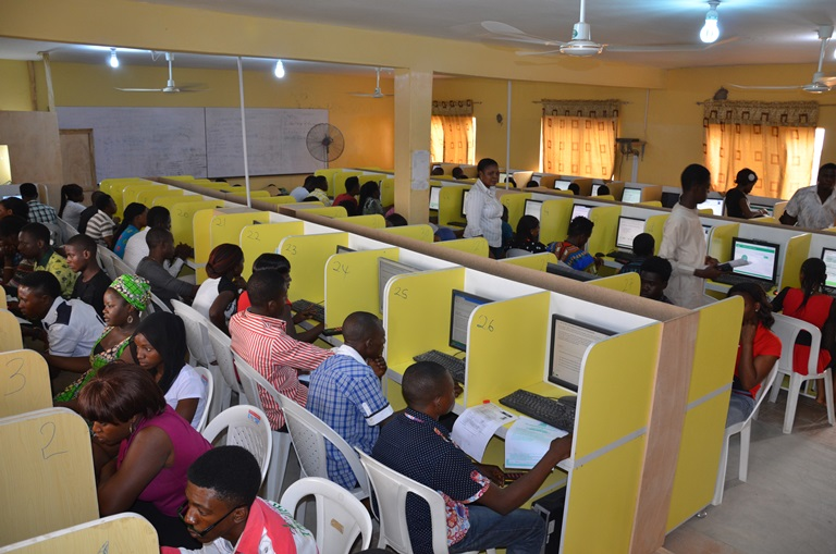 Candidates writing JAMB examination
