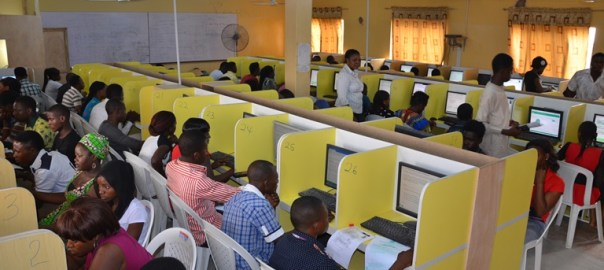 Candidates writing JAMB examination