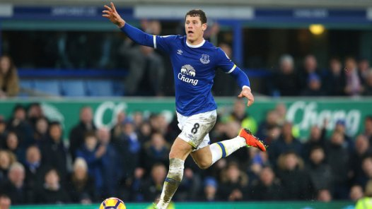 Ross Barkley celebrating before he scores his goal against AFC Bournemouth  Photo: Skysports