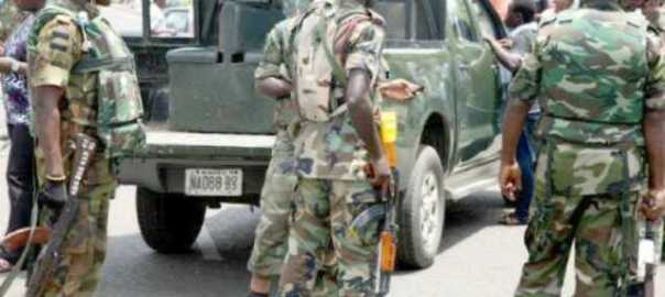 A picture of men of the Special Task Force used to illustrate the story. [Photo Credit: The Agenda Online]