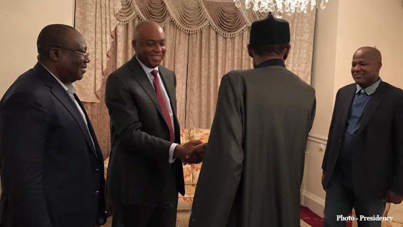 Saraki with Buhari in London 3