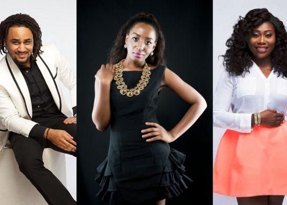THE LEAD CAST L-R Adebola 'Illrymz' Olowu, Oreka Godis and Gbemi Olateru-Olagbegi,