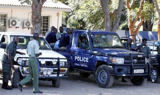 Zambian police[Photo credit: Qfmzambia.com]