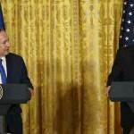 U.S. President, Donald Trump with Israeli Prime Minister, Benjamin Netanyahu