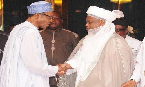 President Muhammadu Buhari and Sultan of Sokoto