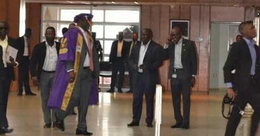 Dino Melaye on academic gown