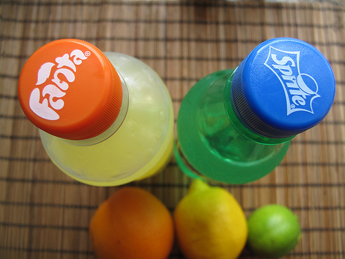 Image result for fanta and sprite with vitamin c