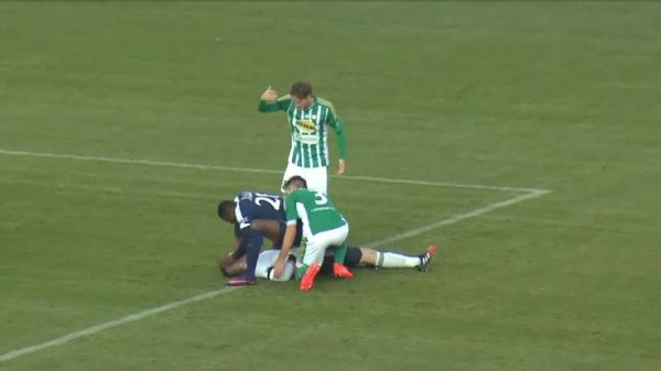 Togo international Francis Kone took action to save a rival goalkeeper's life during a league game in the Czech Republic. [Photo: ESPN]