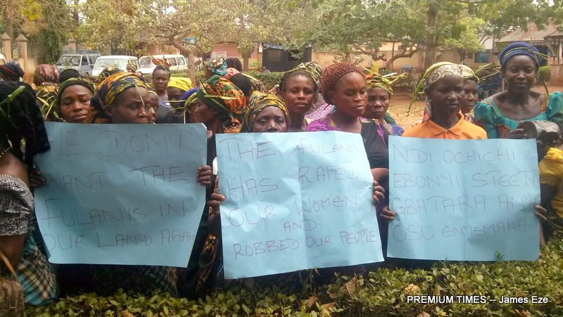 Women protesting the rape of a 70 year old woman in Ebonyi