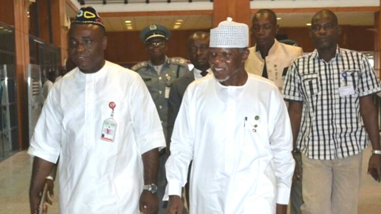 Comptroller-General of Nigeria Customs, Hameed Ali arriving the Nigerian Senate