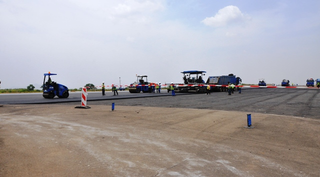 Reconstruction of the Abuja Airport runway.