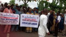 FUTA workers protesting on Friday