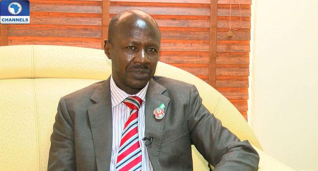 Acting EFCC Chairman, Ibrahim Magu [Photo: Channels TV]