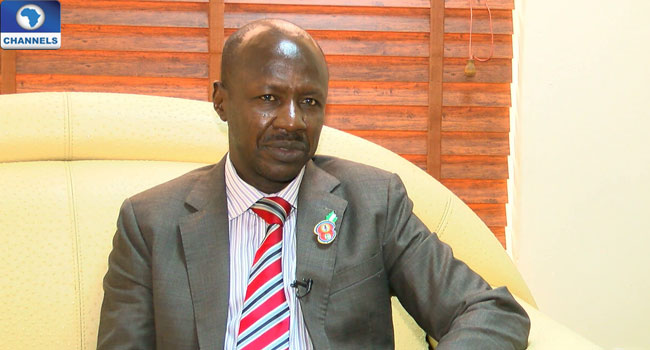 Acting EFCC Chairman, Ibrahim Magu [Photo: Channels TV]