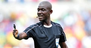 Referee Lamptey Joseph Odarte during 2018 World Cup Qualifiers match between South Africa and Senegal at Peter Mokab Stadium, November on the 12 November 2016 © Samuel Shivambu/BackpagePix