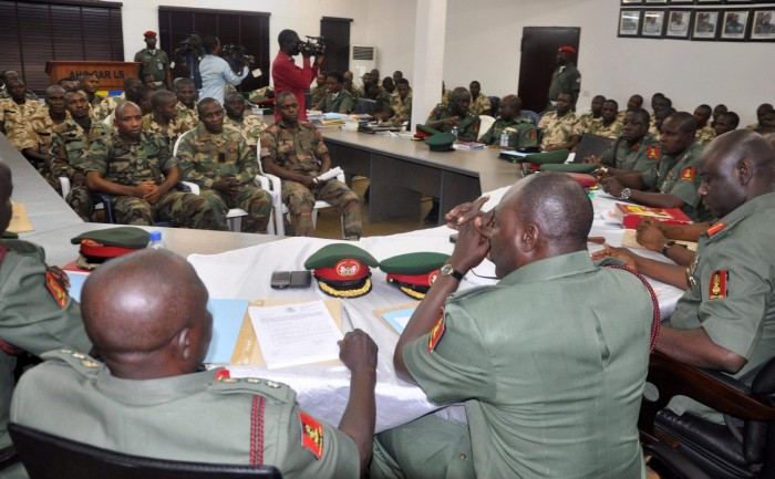 Photo from a previous military court martial used to illustrate the story.