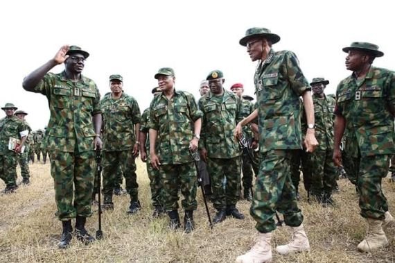 President Buhari in Army Uniform
