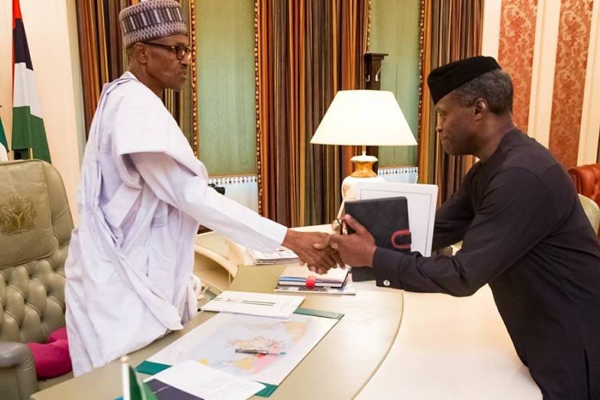 Image result for Buhari Names Osinbajo 'Coordinator' Of Nigerian Government In His Letter To Senate