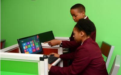 Sascon International School students in the computer laboratory