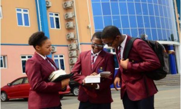 Sascon International School students studying