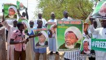 Shi'a members demanding the release of Ibrahim El-Zakzaky in Abuja