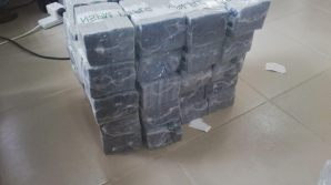 Photo of the N49 million cash intercepted at Kaduna International Airport, being displayed by the Economic and Financial Crimes Commission, EFCC, at their Kaduna Zonal Office on Tuesday.
