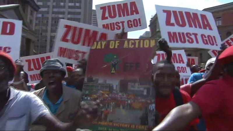 Anti Zuma protesters [Photo Credit: AlJazeera]