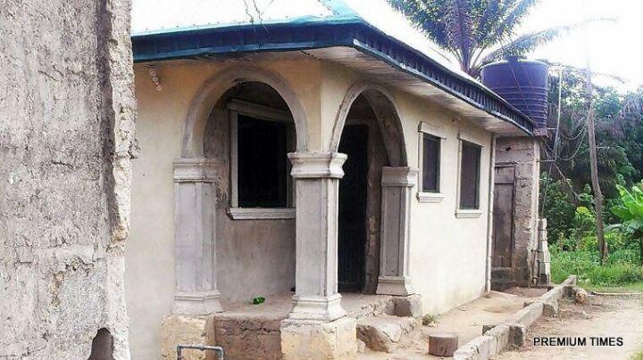 Stephanie Otobo mothers house in Amukpe
