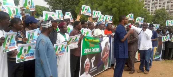 Shiites protest detention of their leader Sheikh Ibrahim El-Zakzaky
