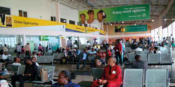 Nigerians at airport