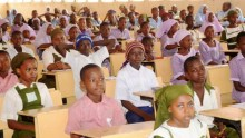 Nigerian pupils preparing to write an exam [Photo: The News Nigeria]
