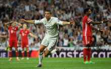 Cristiano Ronaldo scored a hat trick as Real Madrid defeated Bayern Munich 4-2 after extra time. [Photo credit: telegraph.co.uk]