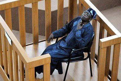 File photo of Bola Tinubu docked at the Code of Conduct Tribunal [Picture: Information Nigeria]