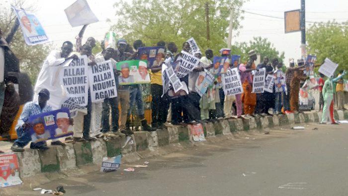 Senator Ndume's supporters