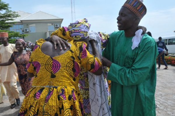 Rescued Chibok girls reunite with parents