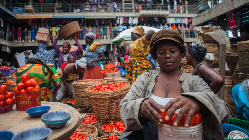 A market in Ghana [Photo Credit: Public Radio International]