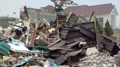 Inuwa Abdulkadir's demolished house