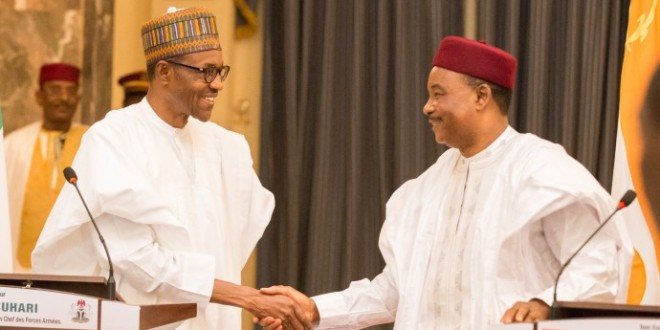 Muhammadu Buhari and Mahamadou Issoufou